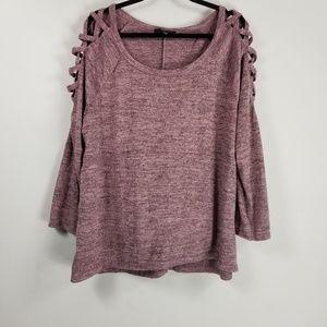 Naif longsleeve light sweater size 2X Burgundy
